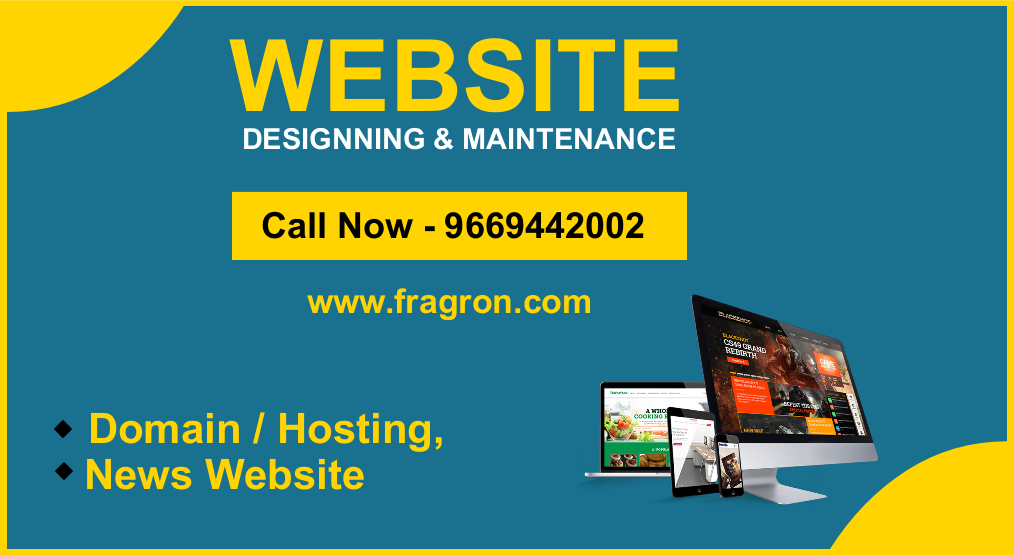 News Website, Android Application Designing in India By - Fragron Infotech, Call - 9669442002
