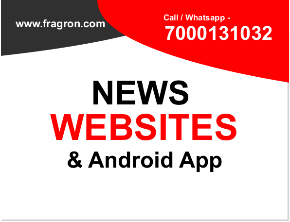 News Website, Android Application Designing By - Fragron Infotech
