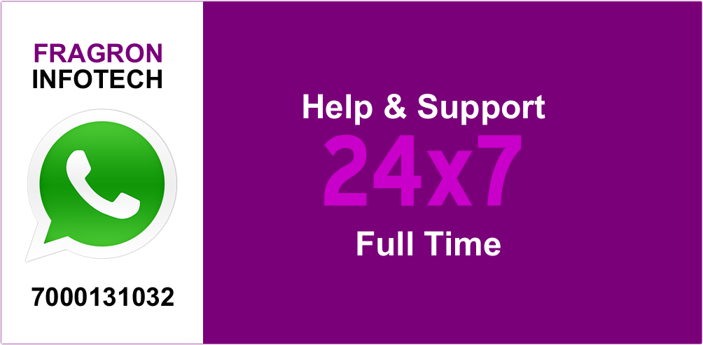 24x7 Help & Support - Fragron Infotech